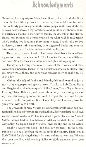 The Belen Hitch Acknowledgment Page